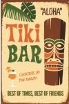 Metal Plaque Wall Sign Tiki Bar Aloha Gift 30 x 40 cm